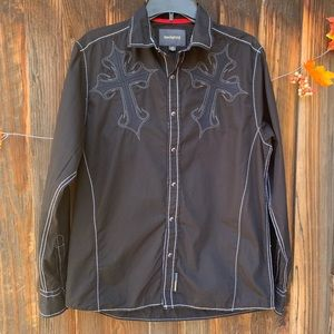 Ring Of Fire Country Western button down shirt